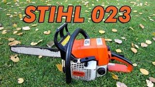 Stihl 023 Chainsaw Start-Up & Test Cut