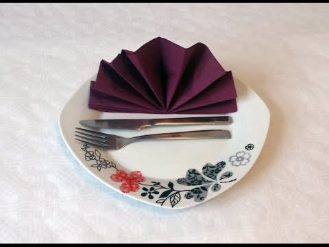 how to do paper napkin folding 05 youtube. Black Bedroom Furniture Sets. Home Design Ideas