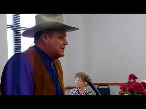 John T. Wayne speaks at event...grandson of John Wayne.