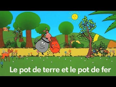 Le Pot de terre et le Pot de fer - Fable de La Fontaine - Par Sidney Oliver