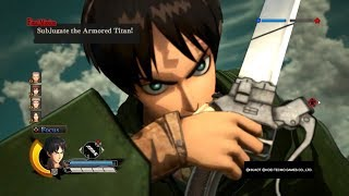 Attack on Titan Wings of Freedom Eren vs Reiner 99+ Perfected Gear Gameplay