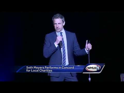 Comedian Seth Meyers returns to New Hampshire for benefit shows