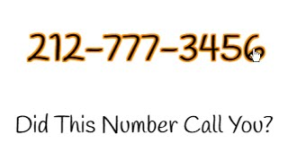 212-777-3456 Call You? | WATCH THIS