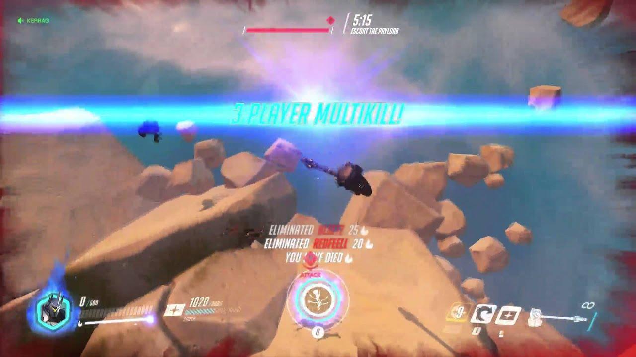 Overwatch reinhardt quad kill - YouTube