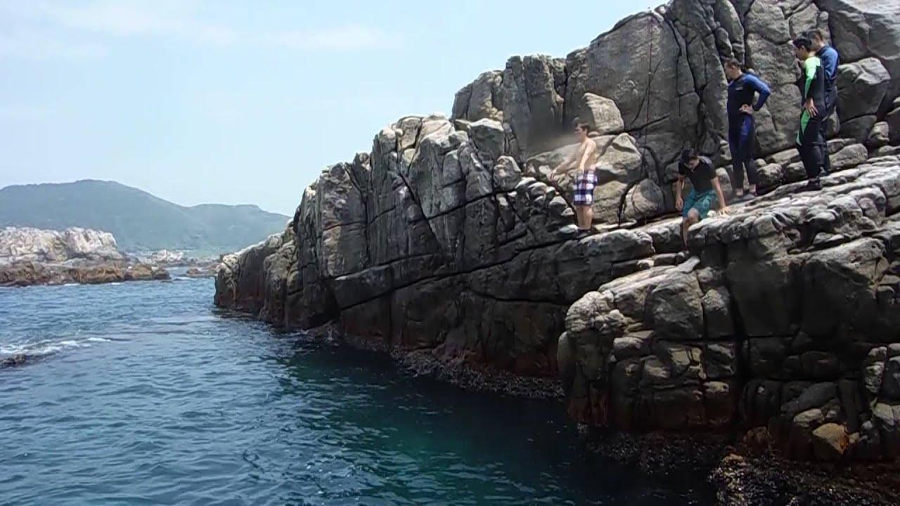 2015/05/09 二號選手 kim 360度 跳水 和美國小龍洞 - YouTube