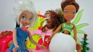 Видео для девочек. Феи и искусственный снег летом