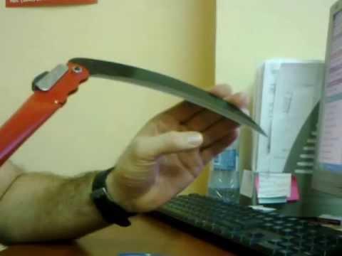 Отбивка косы литовки - YouTube