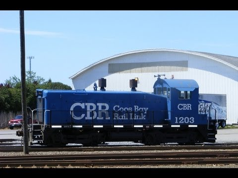 Railroad in the Streets ~ Ex Southern Pacific - Coos Bay Rail Link ~ Oregon 5/20/13