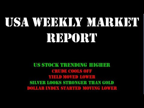 USA Weekly Market Report #nasdaq #dollarindex #dxy #dowjones #vix #bond #yield #gold #silver