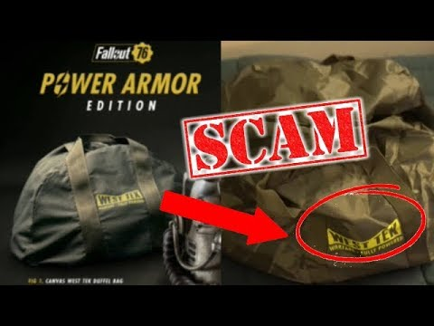Fallout 76 SCAMS Customers Power Armor Special Edition