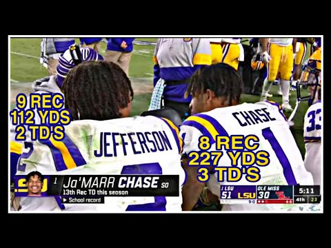 LSU WR's Chase/Jefferson vs Ole Miss (Week 12)
