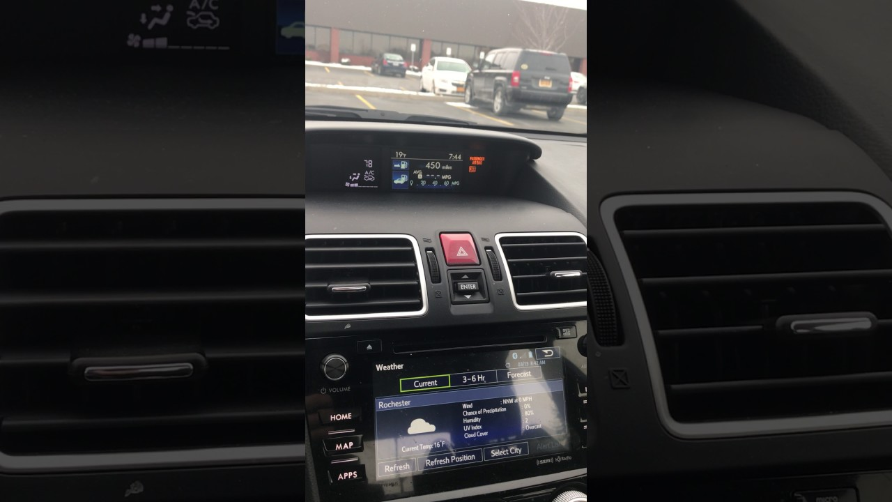 How to change the clock on a 2017 Subaru WRX