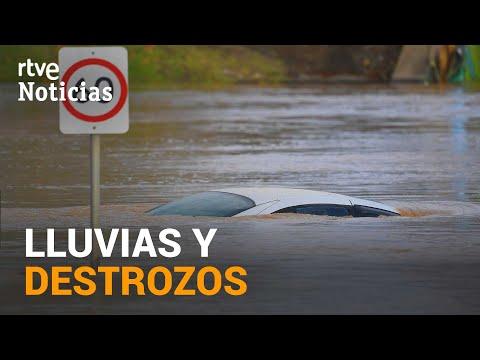 Gran parte de ESPAÑA sigue en ALERTA NARANJA por fuertes tormentas y lluvia intensa | RTVE Noticias