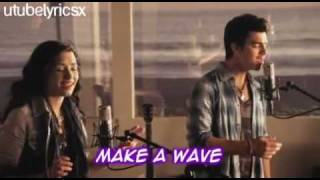 make a wave  official music video - Joe Jonas and Demi Lovato with lyrics + DOWNLOAD LINK