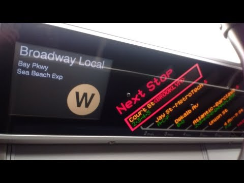 NYC Subway HD: Riding Kawasaki R160B Siemens W Local Train (City Hall to Bay Pkwy) via Sea Beach