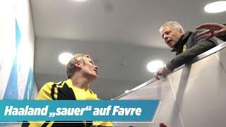 """BVB-Viererpacker Haaland: """"Ich bin sauer auf Sie, Trainer."""""""