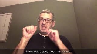 Deaf Student Reviews Brad Hussey in ASL - Harold
