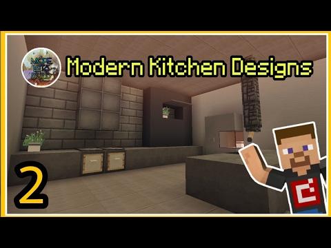 Minecraft PE : 8 Modern Kitchen Designs - YouTube