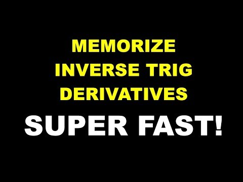 Tricks for Memorizing Inverse Trig Derivatives
