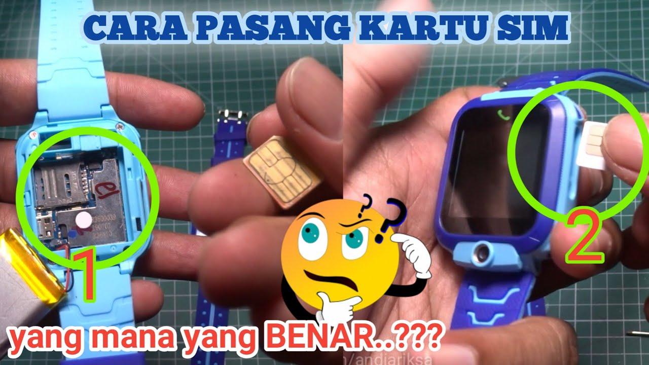 Cara Memasang Kartu Sim Jam Q12 Cara Memasang Sim Card Jam Q12 Smart Watch Anak Q12 Youtube