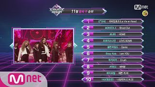 What are the TOP10 Songs in 2nd week of November? M COUNTDOWN 181108 EP.595