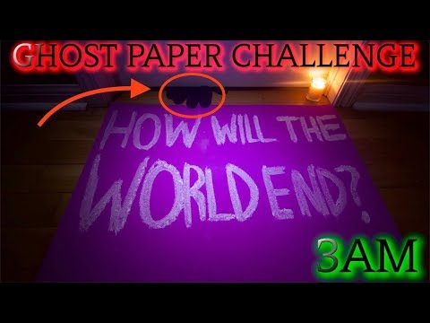 DISTURBING GHOST PAPER CHALLENGE SPIRIT TELLS HOW THE WORLD WILL END... (Dooms Day is Real)