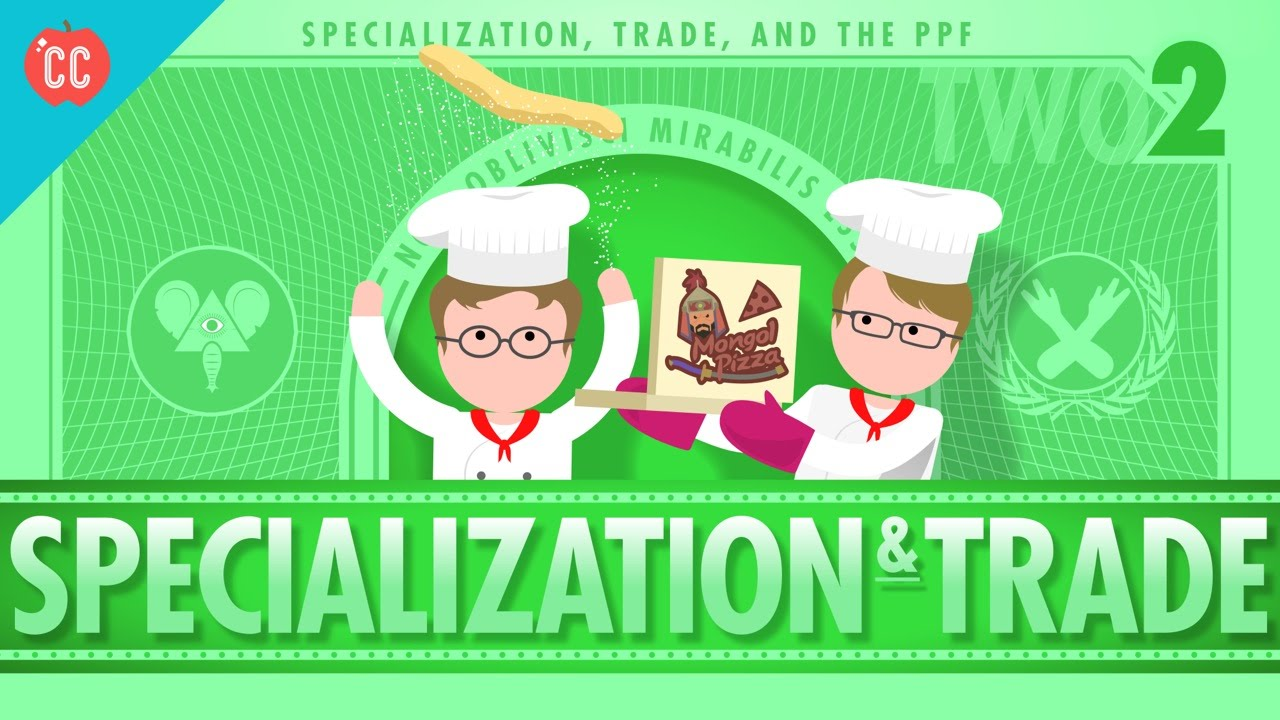 hight resolution of Specialization and Trade: Crash Course Economics #2 - YouTube
