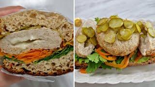 [1분완성] 치즈 닭 가슴살 함박 스테이크 샌드위치 만…