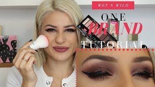 ONE BRAND MAKEUP TUTORIAL: WET N WILD COSMETICS || GIO DREVELI ||