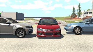 Instant Karma & Car Near Miss - BeamNG Drive
