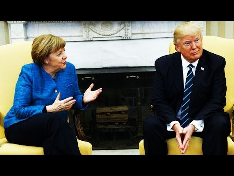 Donald Trump Refuses To Shake Angela Merkel's Hand, Embarrasses Himself and Entire Country, As Usual