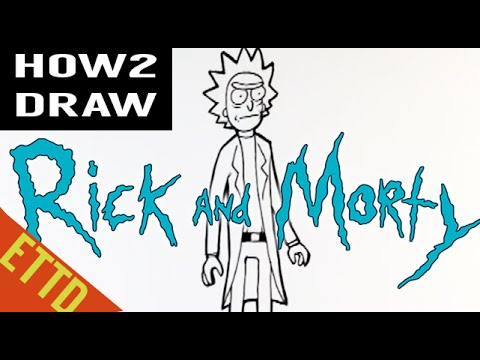 How To Draw Rick From Rick And Morty For Beginners