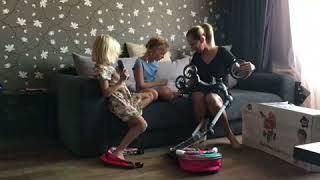 Обзор коляски Demi Star Doll Pram 2 в 1. Коляска для куклы. Коляска-люлька. Прогулочная коляска.