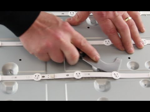 LED Strip Replacement Tutorial - Vizio E420i-A0 TV  - How to Replace the LED Strips No Backlights