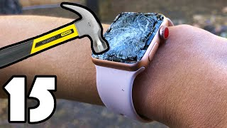 Download 15 WAYS TO BREAK AN APPLE WATCH Mp3 and Videos