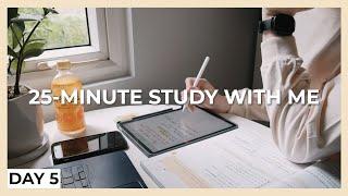 25-MINUTE STUDY WITH ME (DAY 5)   morning, soft rain   KIRA screenshot 1