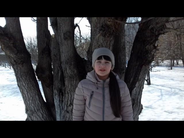 Изображение предпросмотра прочтения – ДианаКузнецова читает произведение «Весна (Зима не даром злится…)» Ф.И.Тютчева