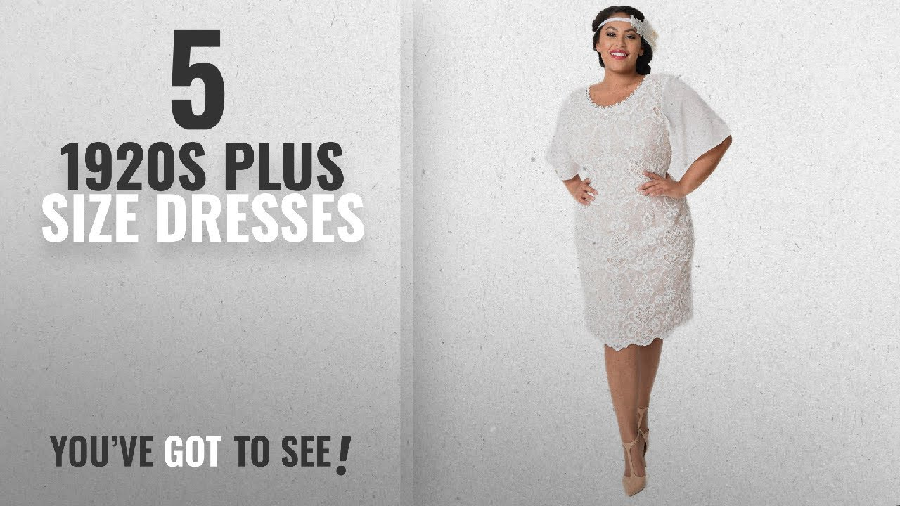 Top 10 1920s Plus Size Dresses 2018 Plus Size 1920s Style Ivory