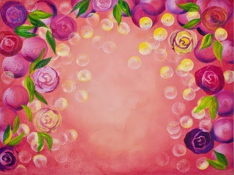Rose bokeh easy and simple background step by step for How to paint a rose step by step