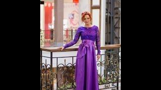 Вечернее платье PV001 сиреневого цвета