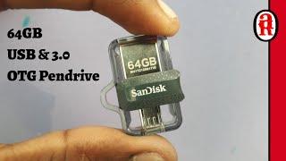 Sandisk Ultra Dual 64GB USB 3.0 OTG Pen Drive Unboxing