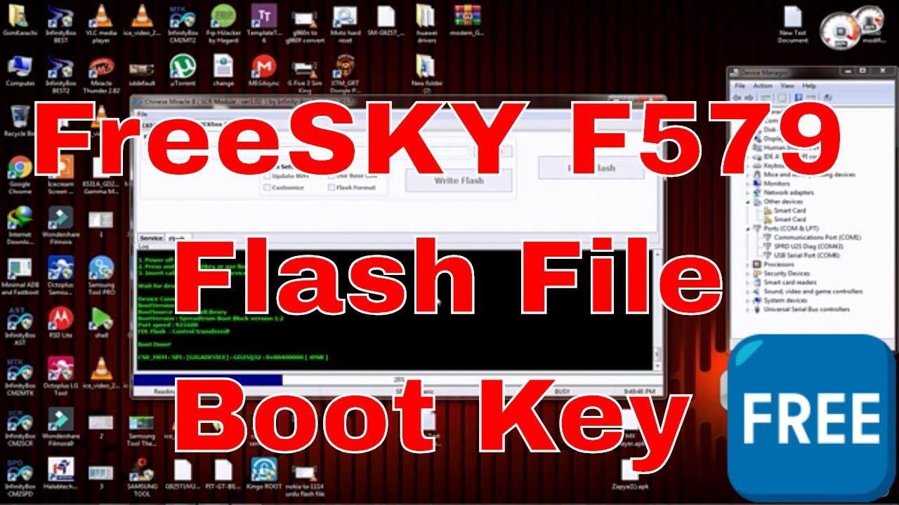 FREESKY F579 Flash File And Boot Key