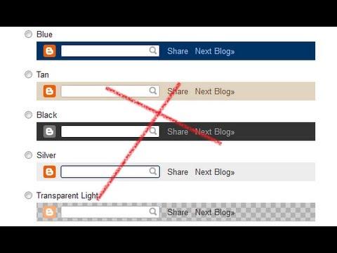 Remove NavBar In Blogger Blog