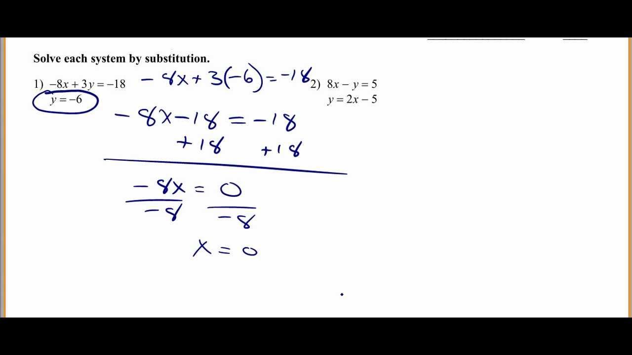 Math Worksheets Substitution Method - math worksheet best ...