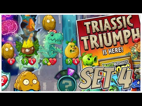Wall-Knight All Triassic Cards Deck - Plants vs Zombies Heroes Gameplay