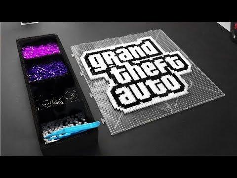 Grand Theft Auto Pixel Art  GTA Rockstar Font