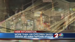 More than 100 children saved in anti-trafficking bust