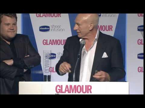 James Corden and Patrick Stewart clash at Awards