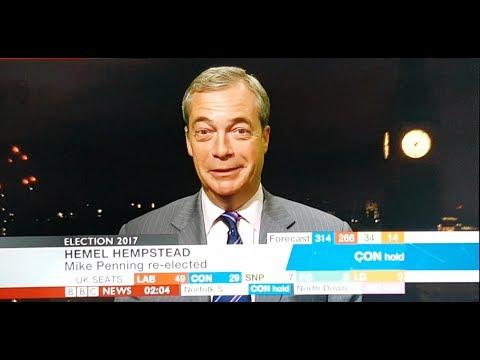 Nigel Farage - BBC Interview - General Election Night - UKIP - 09/06/2017