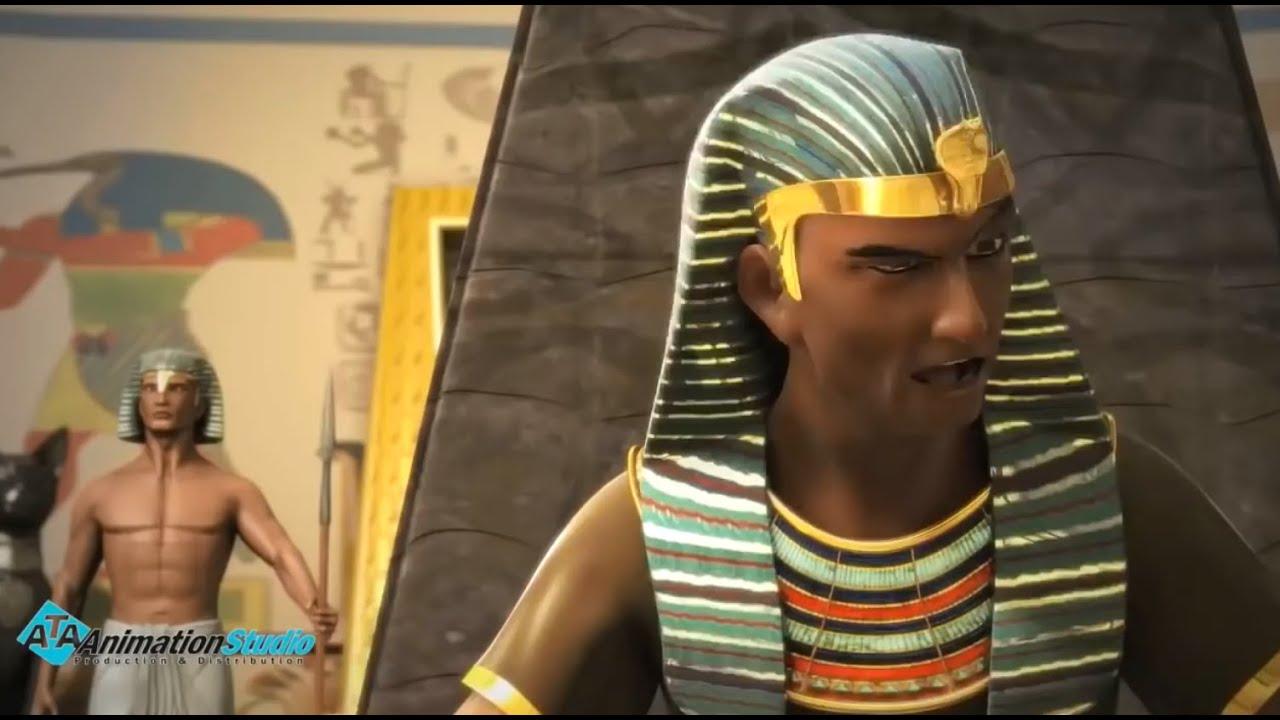 فرعون يستنجد بسيدنا موسي للتخلص من مشكلة الجراد